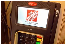 home depot credit card swipe