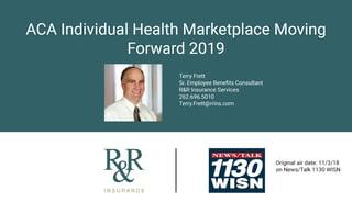 Terry WISN Radio ACA Individual Health Marketplace Moving Forward 2019 Image