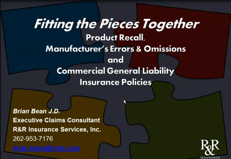 Product Recall Mfr E&O