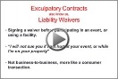 Liability Waivers
