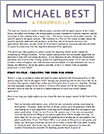 Michael Best & Friedrich LLP, Creating & Addressing the Need for Speed